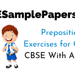 Preposition Exercises for Class 6 CBSE With Answers [ 720 x 1280 Pixel ]