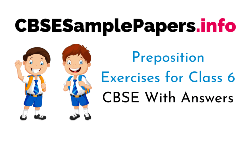 small resolution of Preposition Exercises for Class 6 CBSE With Answers