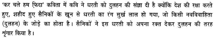 Chapter Wise Important Questions CBSE Class 10 Hindi B - कर चले हम फ़िदा 43