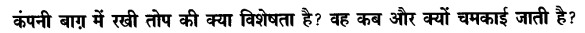 Chapter Wise Important Questions CBSE Class 10 Hindi B - तोप 26