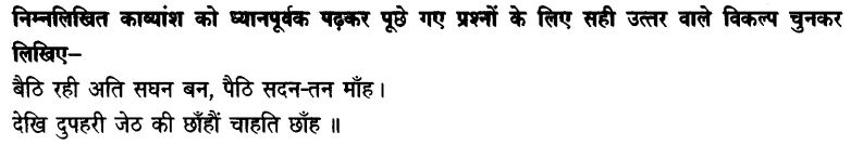 Chapter Wise Important Questions CBSE Class 10 Hindi B - दोहे 25