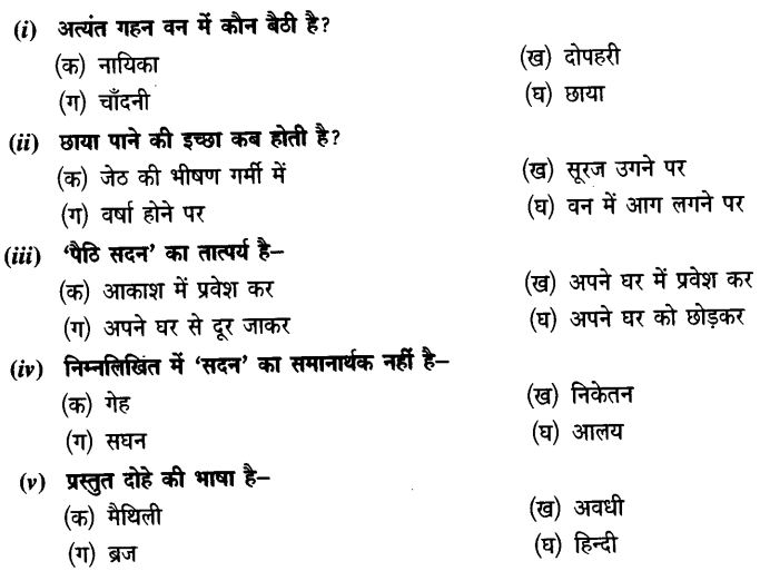 Chapter Wise Important Questions CBSE Class 10 Hindi B - दोहे 26