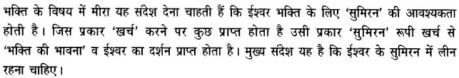 Chapter Wise Important Questions CBSE Class 10 Hindi B - पद 21