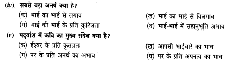 Chapter Wise Important Questions CBSE Class 10 Hindi B - मनुष्यता 28