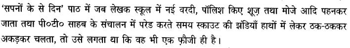 Chapter Wise Important Questions CBSE Class 10 Hindi B -सपनों के-से दिन 20