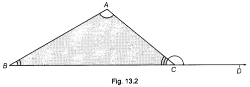 NCERT Class 9 Maths Lab Manual - Verify Exterior Angle Property of a Triangle 2