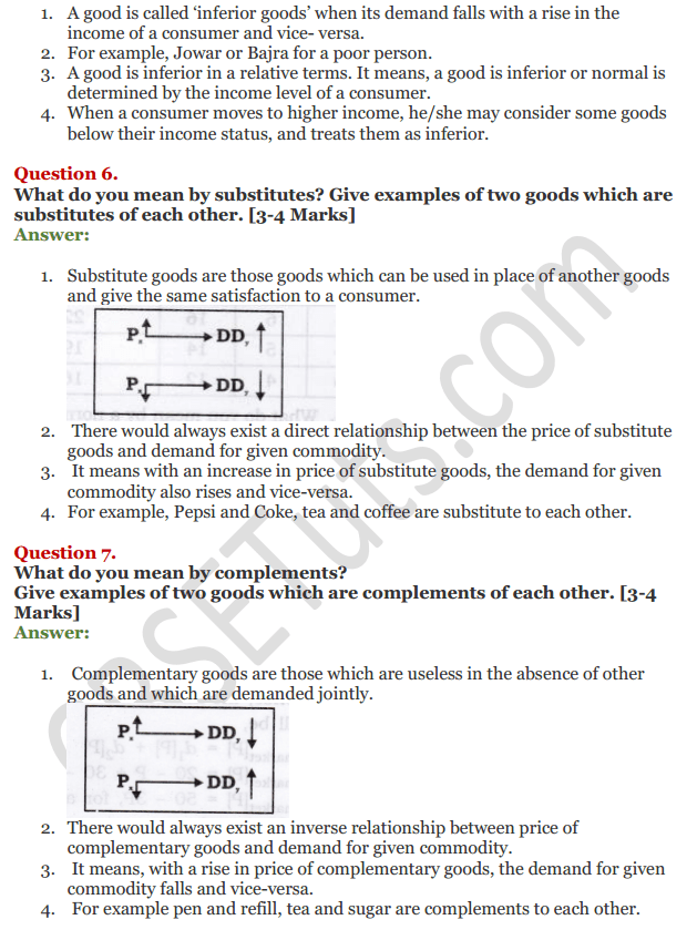 NCERT Solutions for Class 12 Micro Economics Chapter 3 Demand 4
