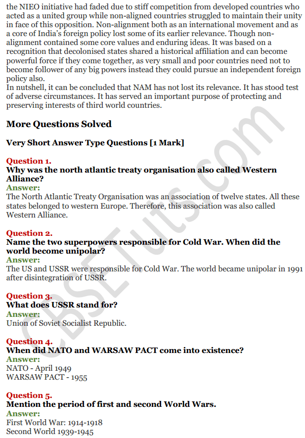 NCERT Solutions for Class 12 Political Science Chapter 1 The Cold War Era 6