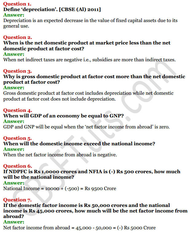 NCERT Solutions for Class 12 Macro Economics Chapter 2 National Income and Relation 9