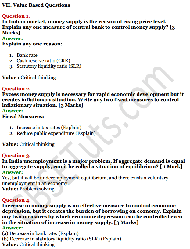 NCERT Solutions for Class 12 Macro Economics Chapter 7 Excess Demand and Deficient Demand 20