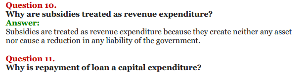 NCERT Solutions for Class 12 Macro Economics Chapter 8 Government Budget and the Economy 7