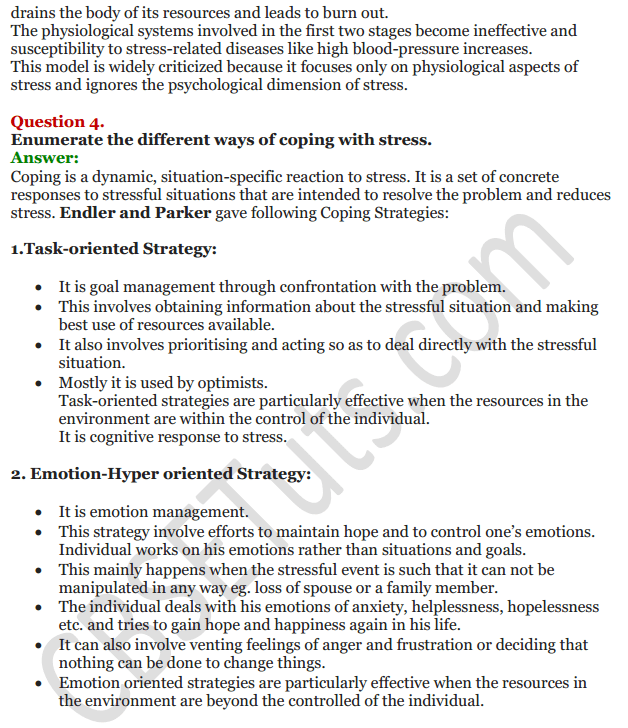 NCERT Solutions for Class 12 Psychology Chapter 3 Human Strengths And Meeting Life Challenges 4