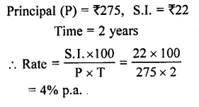 Selina Concise Mathematics Class 7 ICSE Solutions Chapter 10 Simple Interest 10