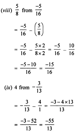 Selina Concise Mathematics Class 7 ICSE Solutions Chapter 2 Rational Numbers Ex 2C 64
