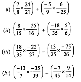 Selina Concise Mathematics Class 7 ICSE Solutions Chapter 2 Rational Numbers Ex 2E Q8