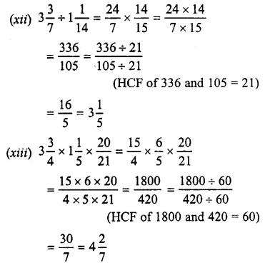 Selina Concise Mathematics Class 7 ICSE Solutions Chapter 3 Fractions (Including Problems) Ex 3C 36