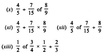 Selina Concise Mathematics Class 7 ICSE Solutions Chapter 3 Fractions (Including Problems) Ex 3C Q5.1