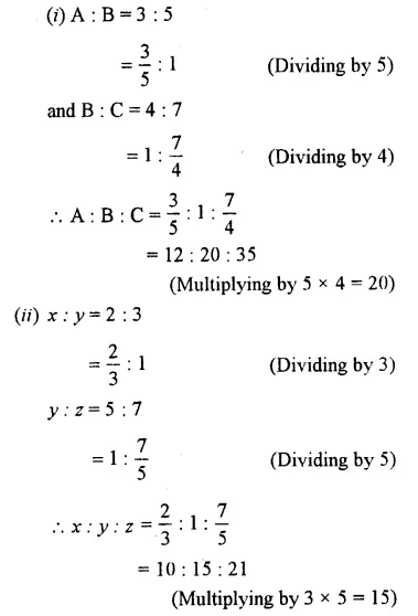 Selina Concise Mathematics Class 7 ICSE Solutions Chapter 6 Ratio and Proportion (Including Sharing in a Ratio) Ex 6B 32