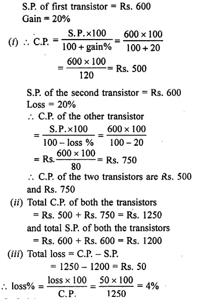 Selina Concise Mathematics Class 7 ICSE Solutions Chapter 9 Profit, Loss and Discount Ex 9B 19