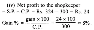 Selina Concise Mathematics Class 7 ICSE Solutions Chapter 9 Profit, Loss and Discount Ex 9C 35