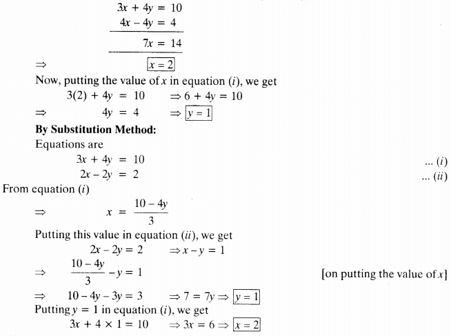 NCERT Solutions for Class 10 Maths Chapter 3 Pair of Linear Equations in Two Variables e4 3