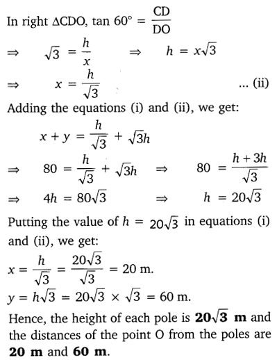 NCERT Solutions for Class 10 Maths Chapter 9 Some Applications of Trigonometry 14