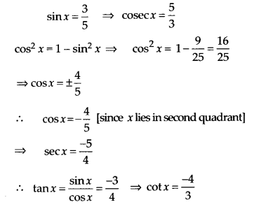NCERT Solutions for Class 11 Maths Chapter 3 Trigonometric Functions Ex 3.2 2