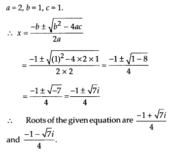 NCERT Solutions for Class 11 Maths Chapter 5 Complex Numbers and Quadratic Equations Ex 5.3 1