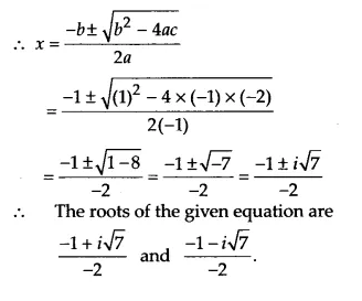 NCERT Solutions for Class 11 Maths Chapter 5 Complex Numbers and Quadratic Equations Ex 5.3 3