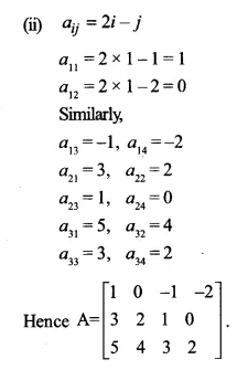 NCERT Solutions for Class 12 Maths Chapter 3 Matrices Ex 3.1 Q5.2