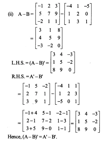 NCERT Solutions for Class 12 Maths Chapter 3 Matrices Ex 3.3 Q2.2