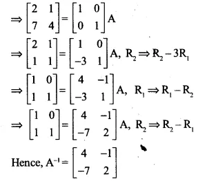 NCERT Solutions for Class 12 Maths Chapter 3 Matrices Ex 3.4 Q5.1