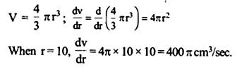 NCERT Solutions for Class 12 Maths Chapter 6 Application of Derivatives Ex 6.1 Q9.1