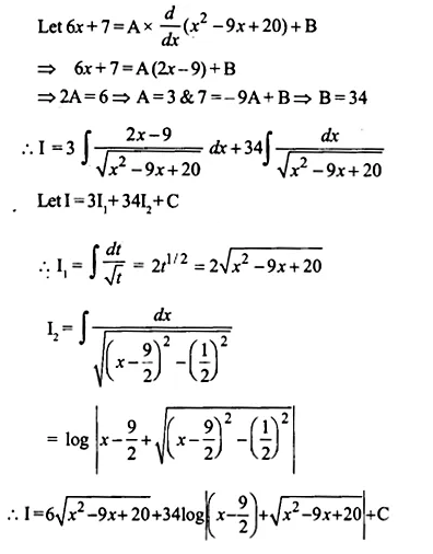 NCERT Solutions for Class 12 Maths Chapter 7 Integrals Ex 7.4 Q19.1