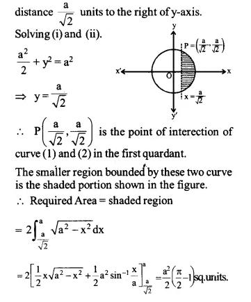 NCERT Solutions for Class 12 Maths Chapter 8 Application of Integrals Ex 8.1 Q7.1