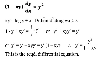 NCERT Solutions for Class 12 Maths Chapter 9 Differential Equations Ex 9.2 Q7.2