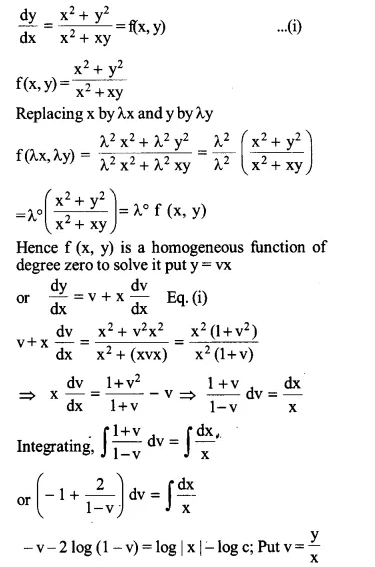 NCERT Solutions for Class 12 Maths Chapter 9 Differential Equations Ex 9.5 Q1.1