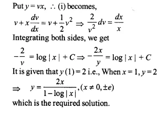 NCERT Solutions for Class 12 Maths Chapter 9 Differential Equations Ex 9.5 Q15.1