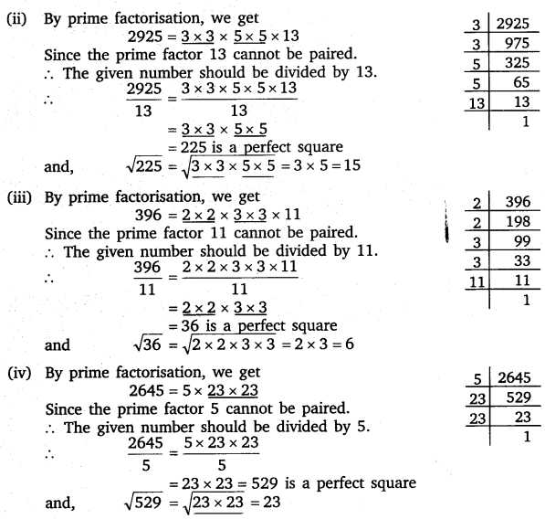 NCERT Solutions for Class 8 Maths Chapter 6 Squares and Square Roots 13