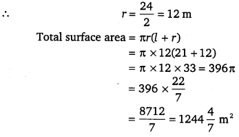 NCERT Solutions for Class 9 Maths Chapter 13 Surface Areas and Volumes Ex 13.3.1