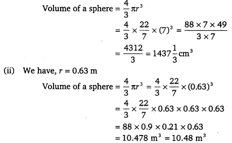 NCERT Solutions for Class 9 Maths Chapter 13 Surface Areas and Volumes Ex 13.8.1