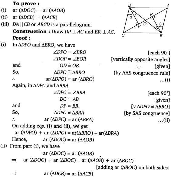 NCERT Solutions for Class 9 Maths Chapter 9 Areas of Parallelograms and Triangles Ex 9.3.9