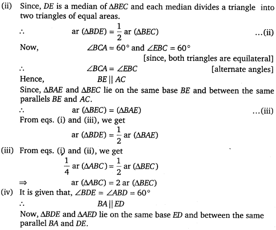 NCERT Solutions for Class 9 Maths Chapter 9 Areas of Parallelograms and Triangles Ex 9.4.10