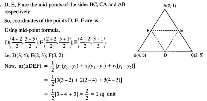 Coordinate Geometry Class 10 Maths CBSE Important Questions With Solutions 118
