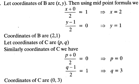 Coordinate Geometry Class 10 Maths CBSE Important Questions With Solutions 7