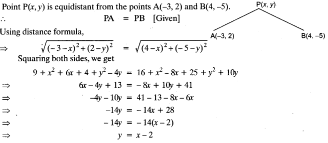 Coordinate Geometry Class 10 Maths CBSE Important Questions With Solutions 72