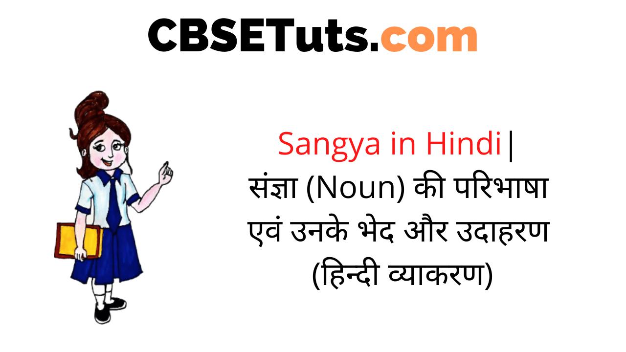 Sangya in Hindi - संज्ञा (Noun) की परिभाषा एवं उनके भेद और उदाहरण (हिन्दी व्याकरण)