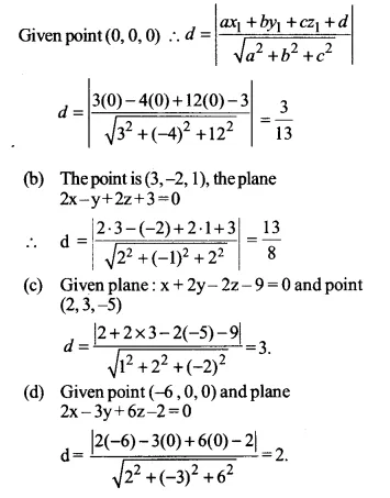 NCERT Solutions for Class 12 Maths Chapter 11 Three Dimensional Geometry Ex 11.3 Q14.1