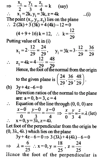 NCERT Solutions for Class 12 Maths Chapter 11 Three Dimensional Geometry Ex 11.3 Q4.1