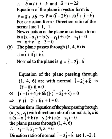 NCERT Solutions for Class 12 Maths Chapter 11 Three Dimensional Geometry Ex 11.3 Q5.1